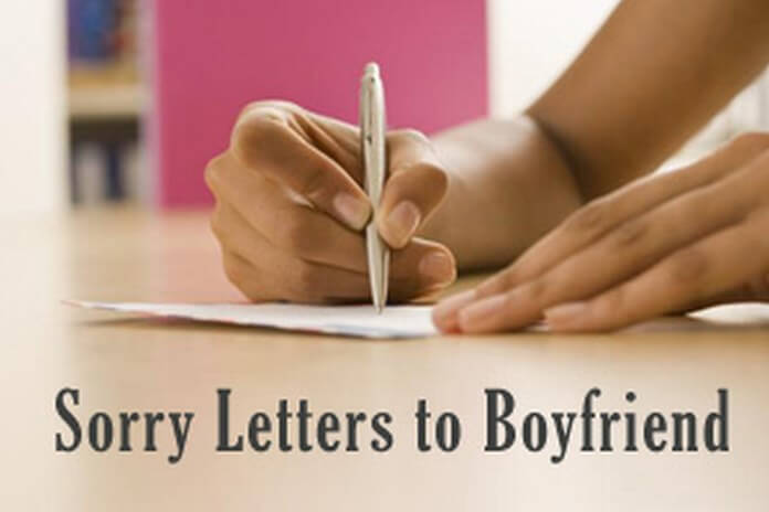 Sorry Letters to Boyfriend