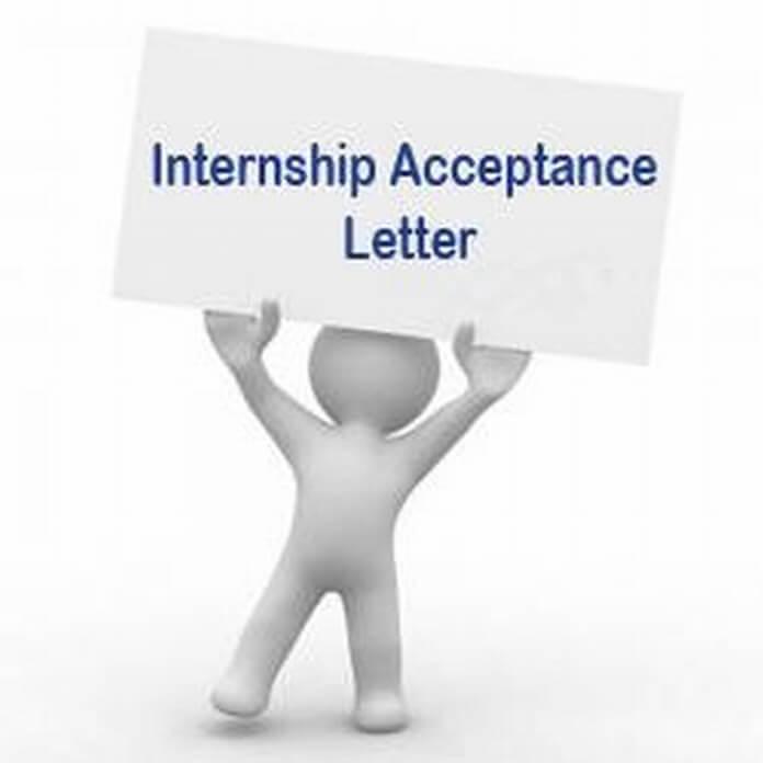 Sample Internship Acceptance Letter