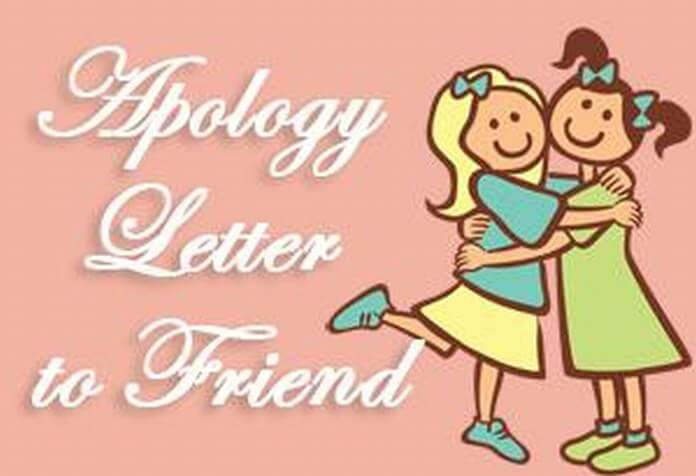 Apology Letter To Friend Sample Sorry Letter To Best Friend