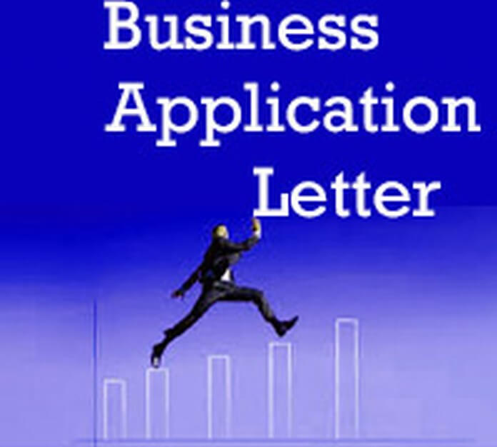example Business Application Letter