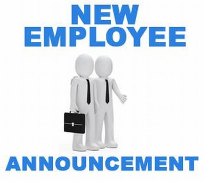 New Employee Announcement Letter