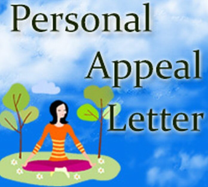 Personal Appeal Letter