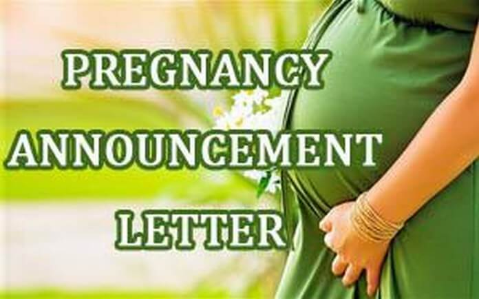 Pregnancy Announcement Letters sample