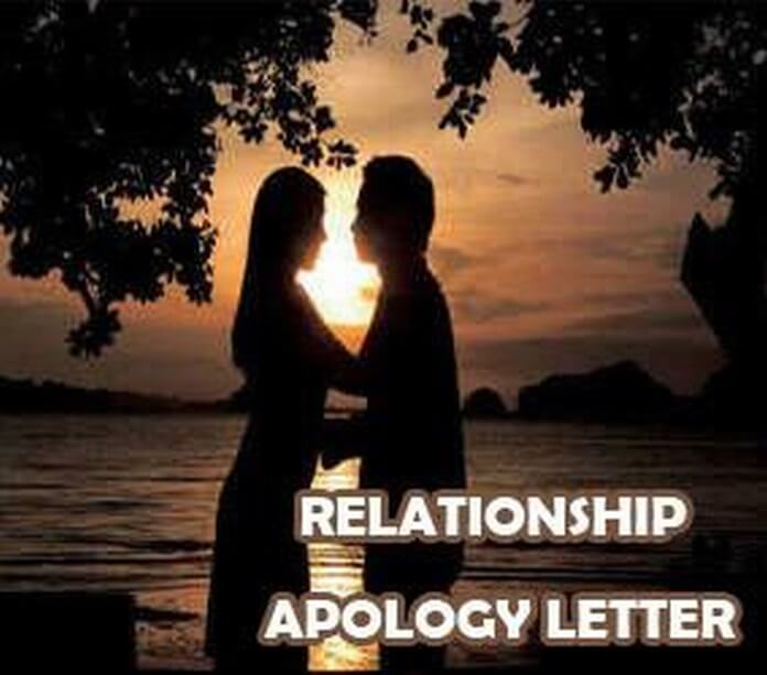 Relationship Apology Letter Sample