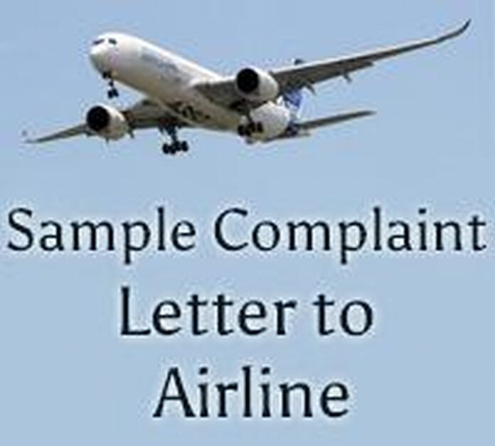 Sample complaint letter to airline free letters thecheapjerseys Choice Image