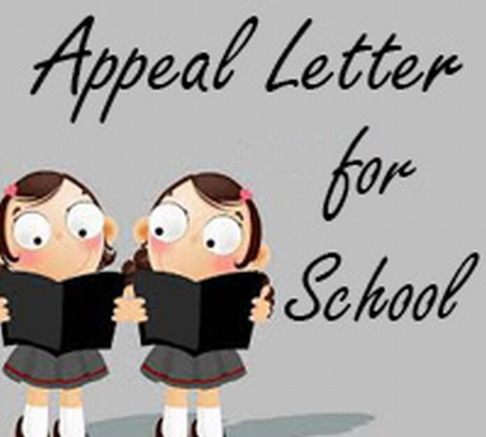 Appeal Letter for School