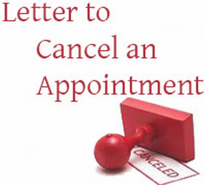 Letter to Cancel an Appointment
