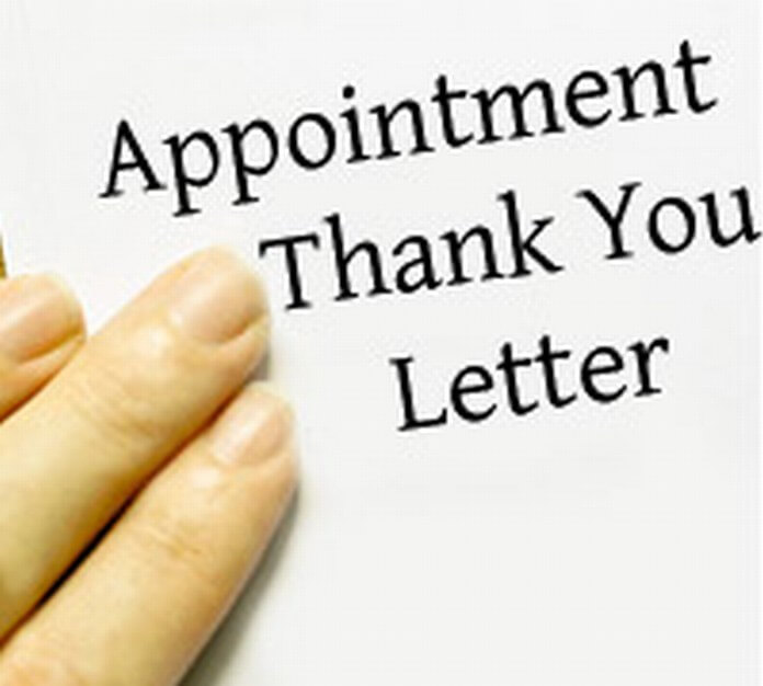 Appointment Thank You Letter