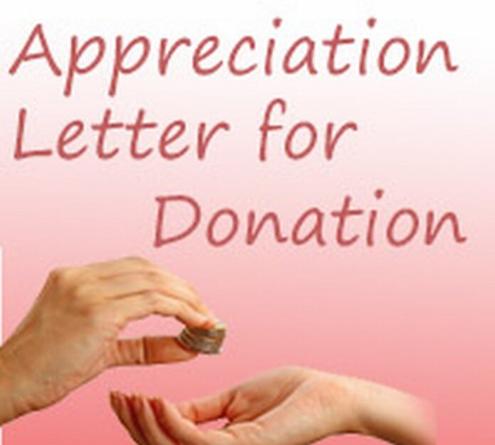 Appreciation Letter for Donation