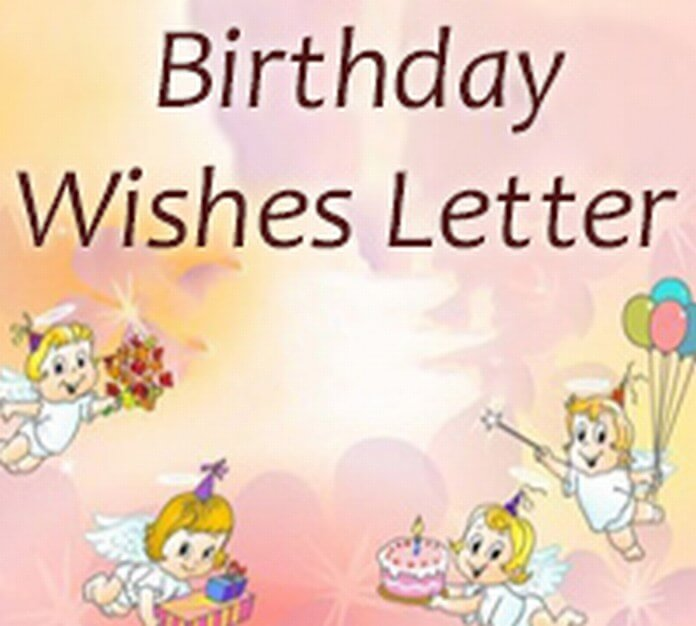 Birthday Wishes Letter sample