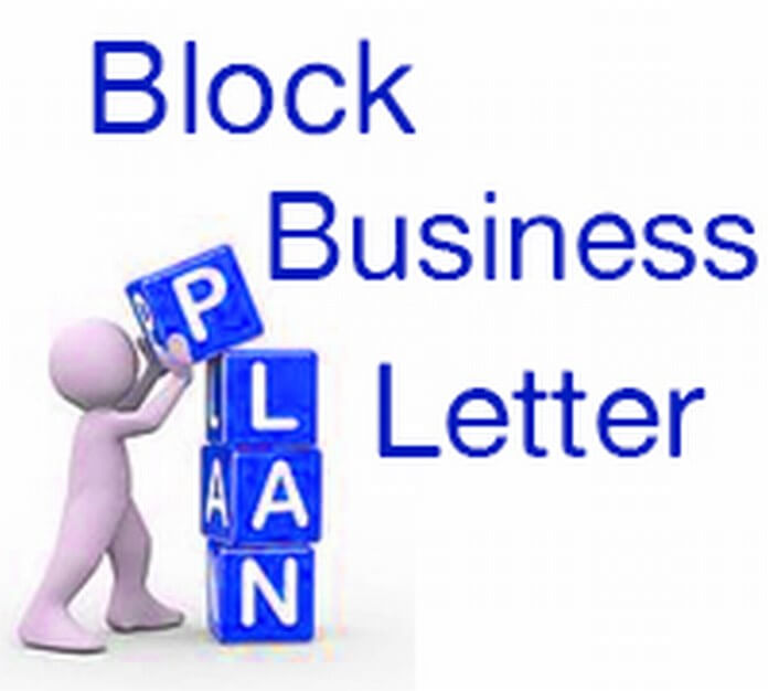 Block Business Letter Sample