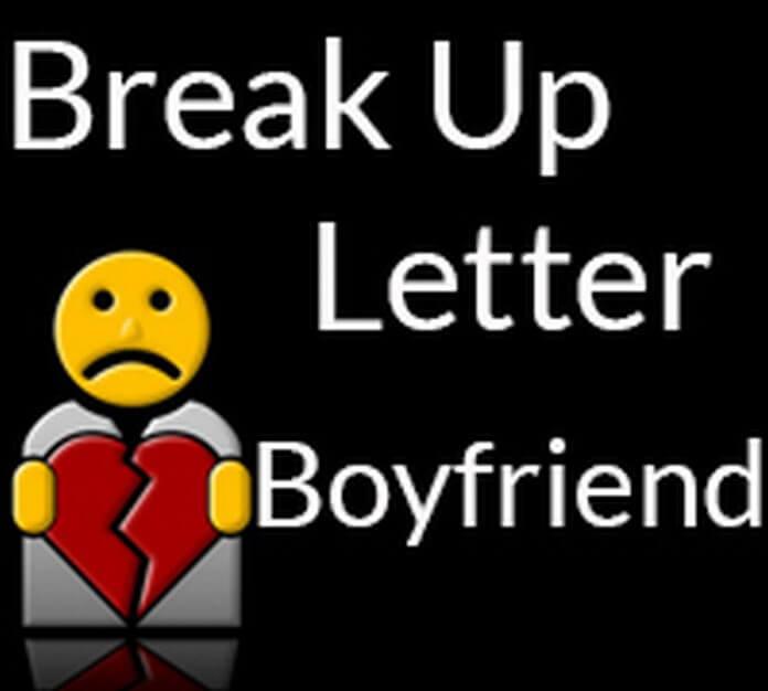 Break Up Letter To Boyfriend Free Letters