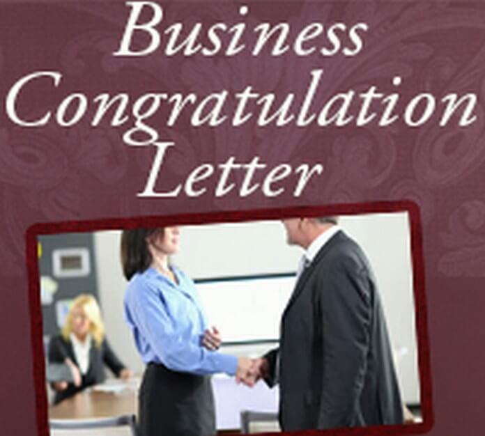formal business congratulations letter