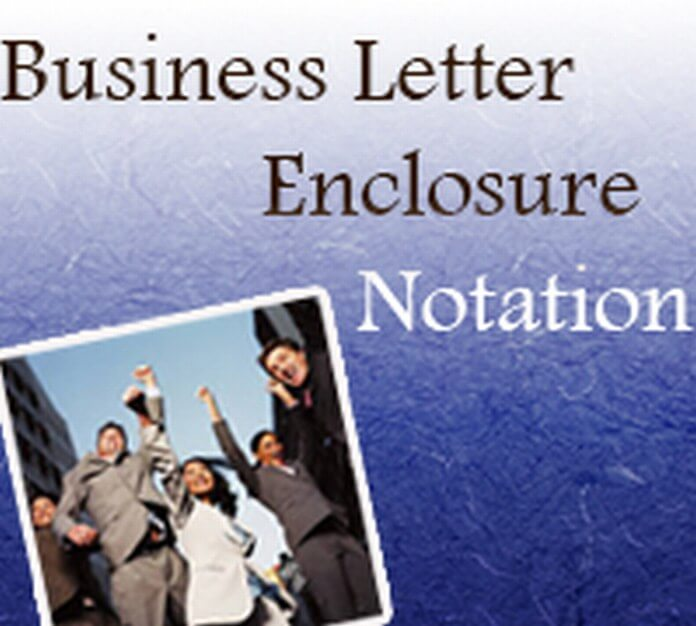 Business Letter Enclosure Notation