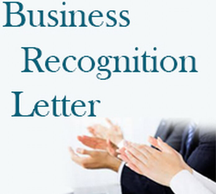 Business Recognition Letter