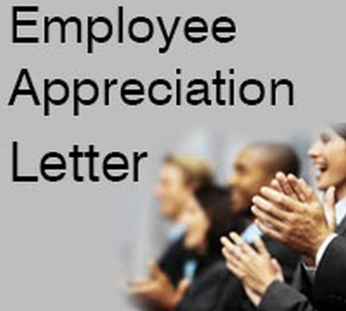 Employee Appreciation Letter
