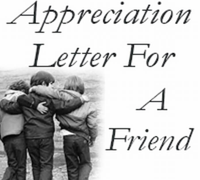 Appreciation Letter to a Friend
