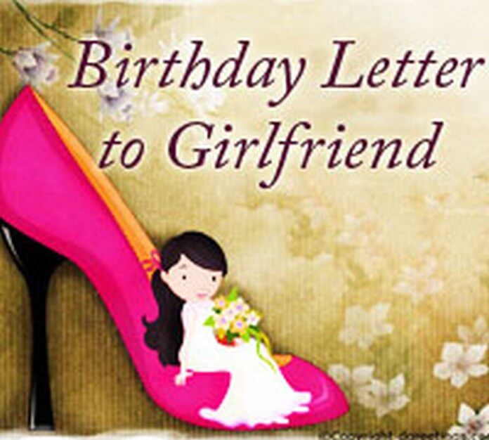 birthday wishes letter to girlfriend