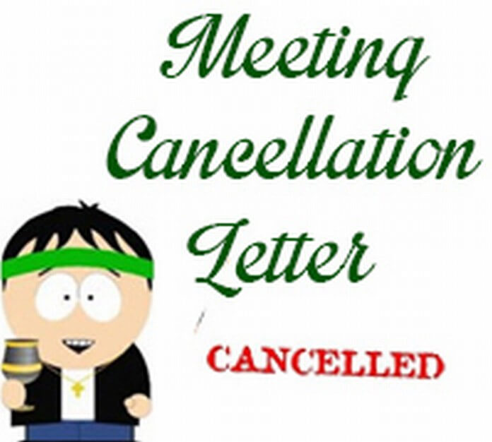 Meeting cancellation letter spiritdancerdesigns Image collections