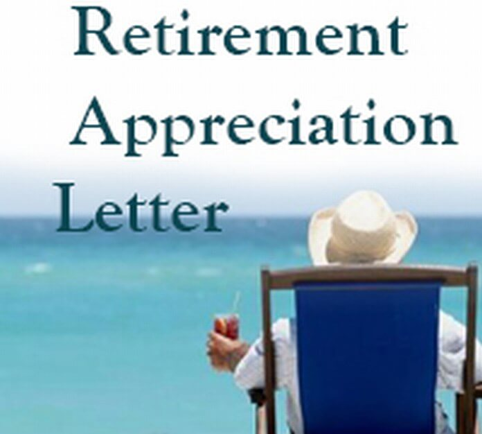 Retirement Appreciation Letter sample
