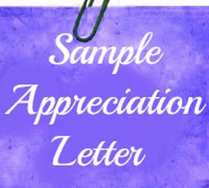 Appreciation Letter Sample