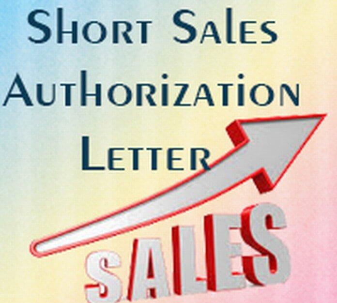 Short Sale Authorization Letter