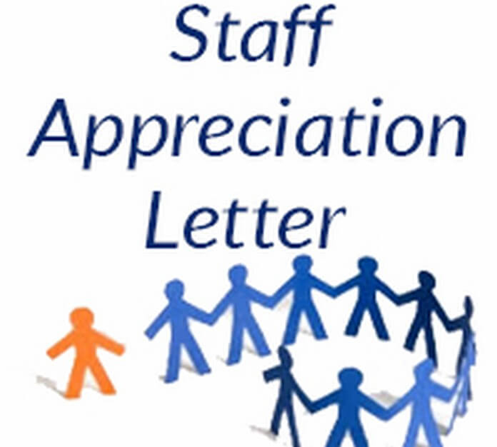 Staff Appreciation Letter