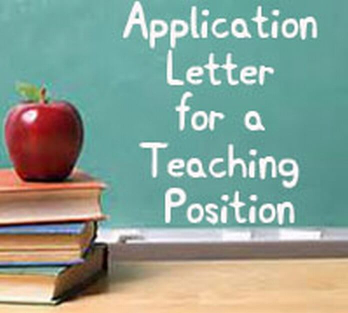 Teaching Position Application Letter