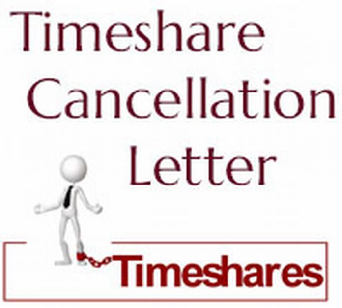 Timeshare Cancellation Letter