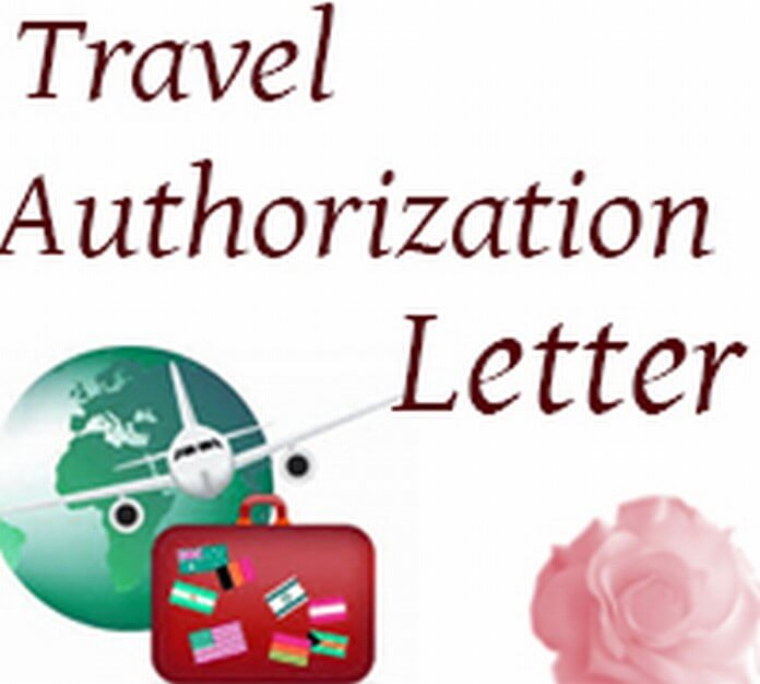Travel Authorization Letter