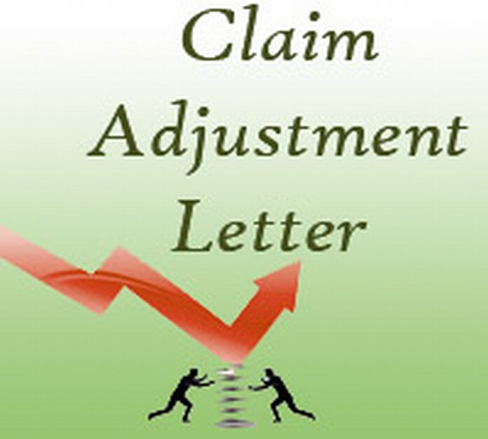 Claim Adjustment Letter