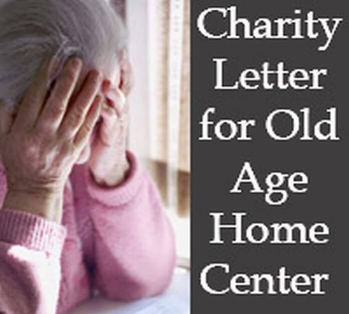 Charity Letter for Old Age Home Center