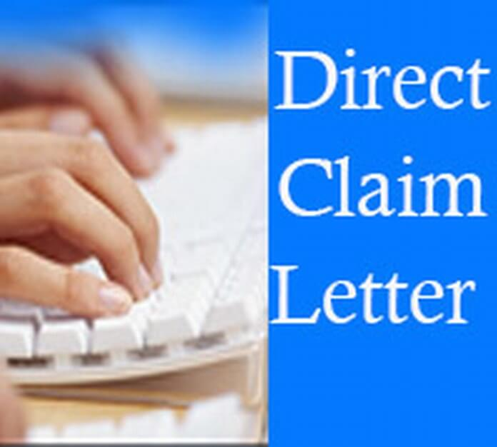 Direct Claim Letter