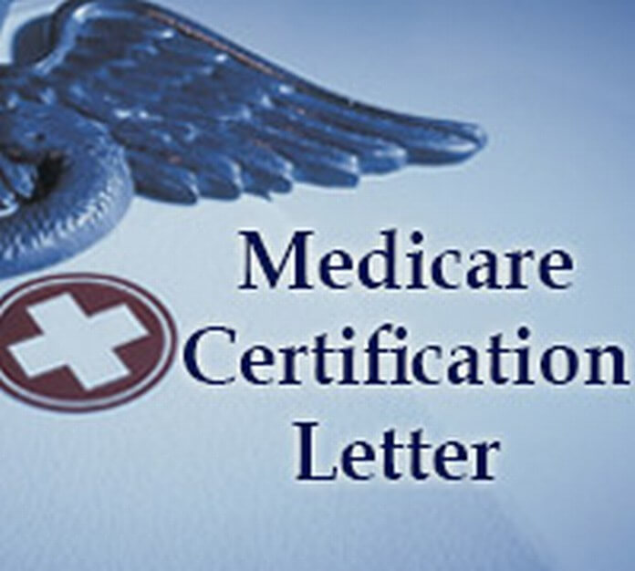 best medicare certification letter