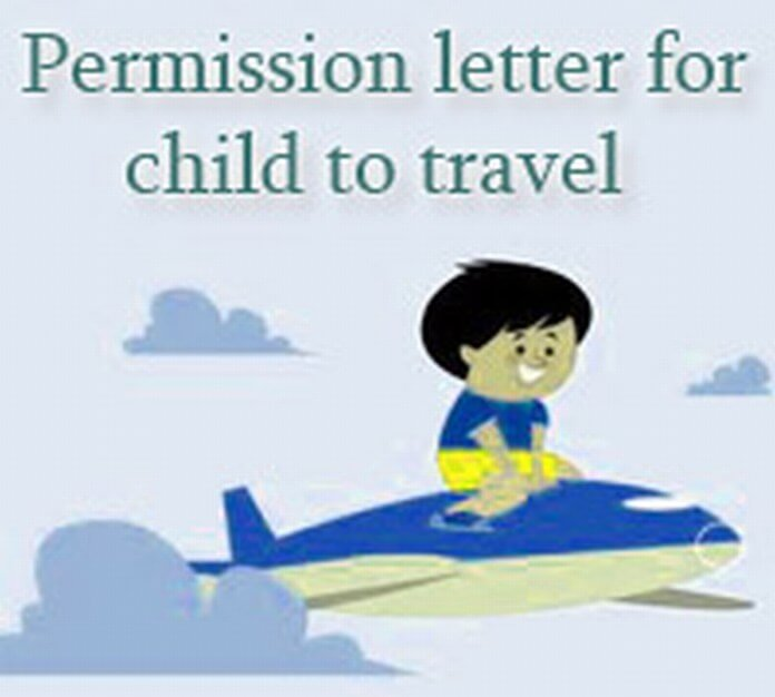 Permission Letter For Child To Travel Free Letters