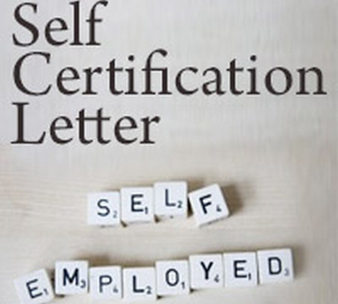 Self Certification Letter Free Letters