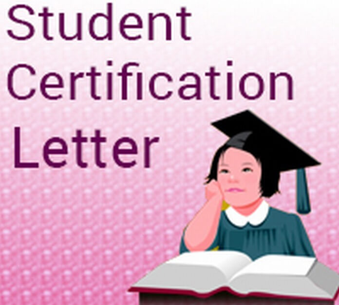 Student Certification Letter