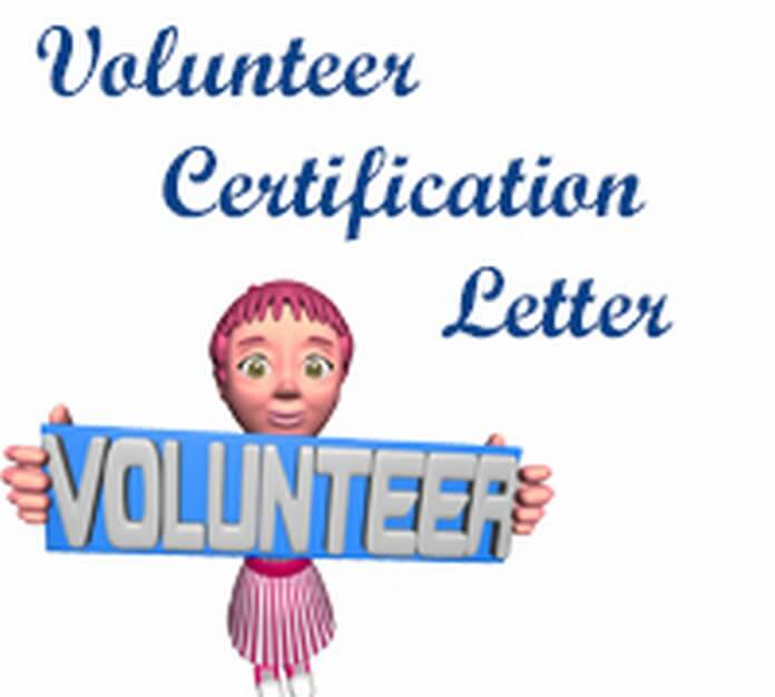 Volunteer Certification Letter