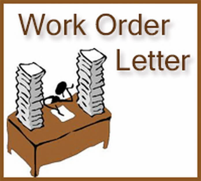 Work Order Letter Sample