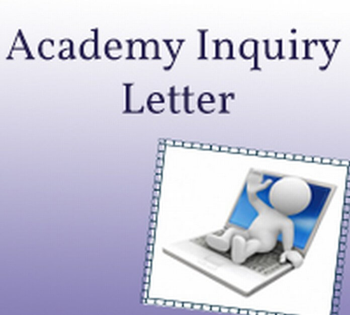 Academy Inquiry Letter
