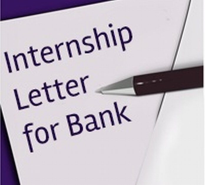 internship letter for bank free letters