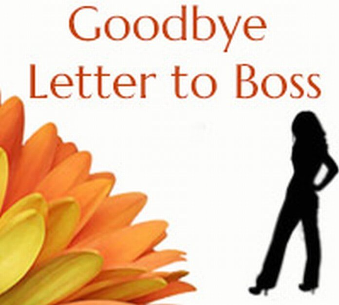 Goodbye Letter to Boss