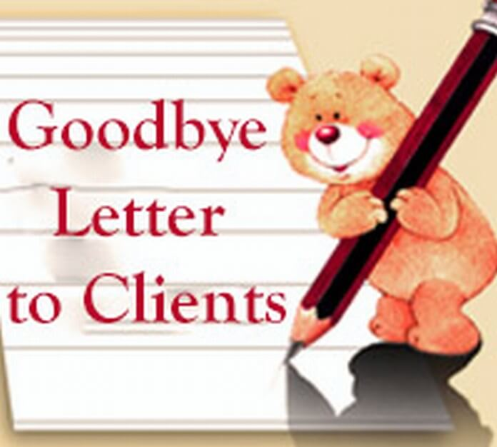 Goodbye Letter to Clients