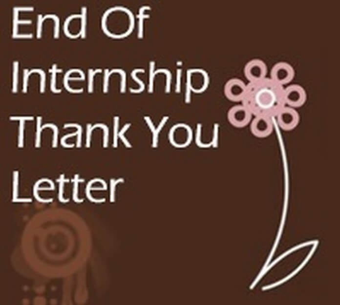 end of internship thank you letter
