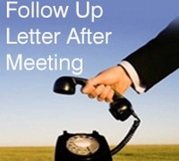Follow Up Letter After Meeting