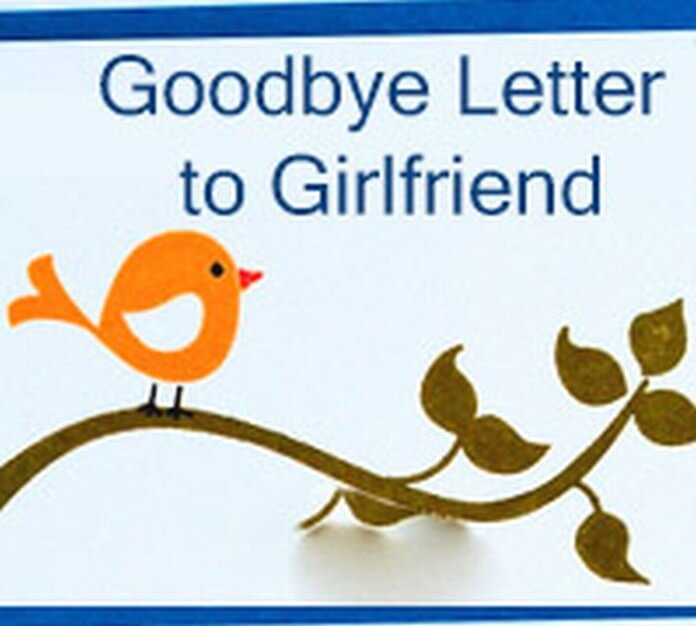 Sample Goodbye Letter to Girlfriend