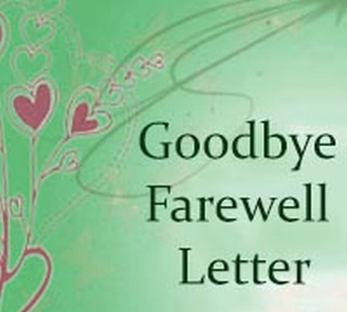 Goodbye Farewell Letter sample