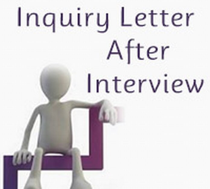 Inquiry Letter After Interview