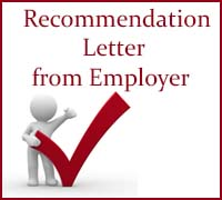 Recommendation Letter from Employer