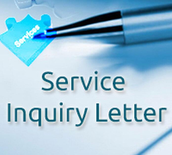 Service Inquiry Letter